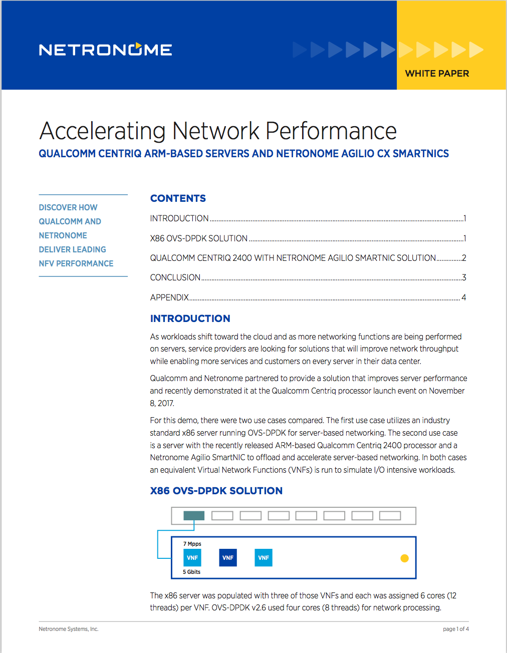 Accelerating Network Performance