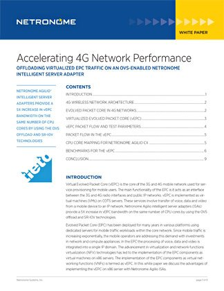Accelerating 4G Network Performance