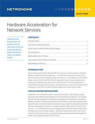 Hardware Acceleration for Network Services