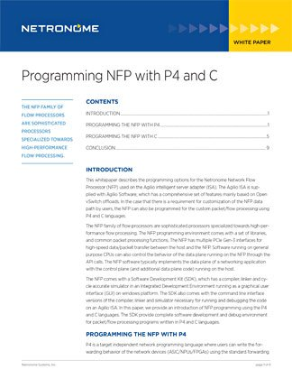 Programming NFP with P4 and C
