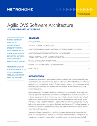 Agilio OVS Software Architecture