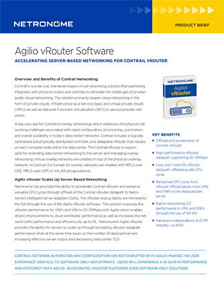 Agilio vRouter Software PDF