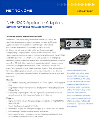 NFE-3240 Appliance Adapters
